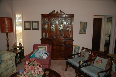 The Great Room china cabinet